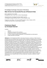 Main Drivers for Successful Re-use of Research Data