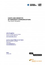 Costs and Benefits of Research Communication: The Dutch Situation