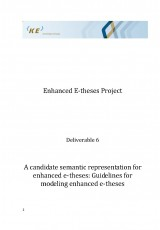 A candidate semantic representation for enhanced e-theses: Guidelines for modeling enhanced e-theses
